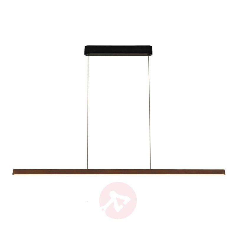Vincelli LED pendant light - with bamboo lampshade - Pendant Lighting