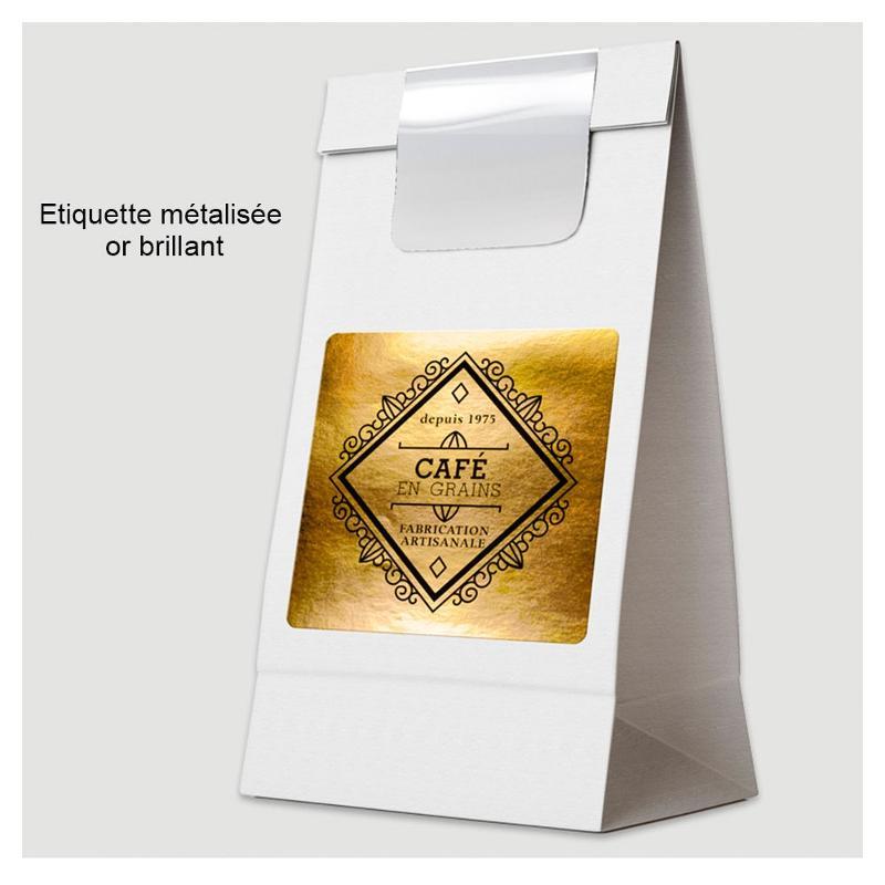 Étiquettes métallisées - impression noire - Étiquettes métallisées