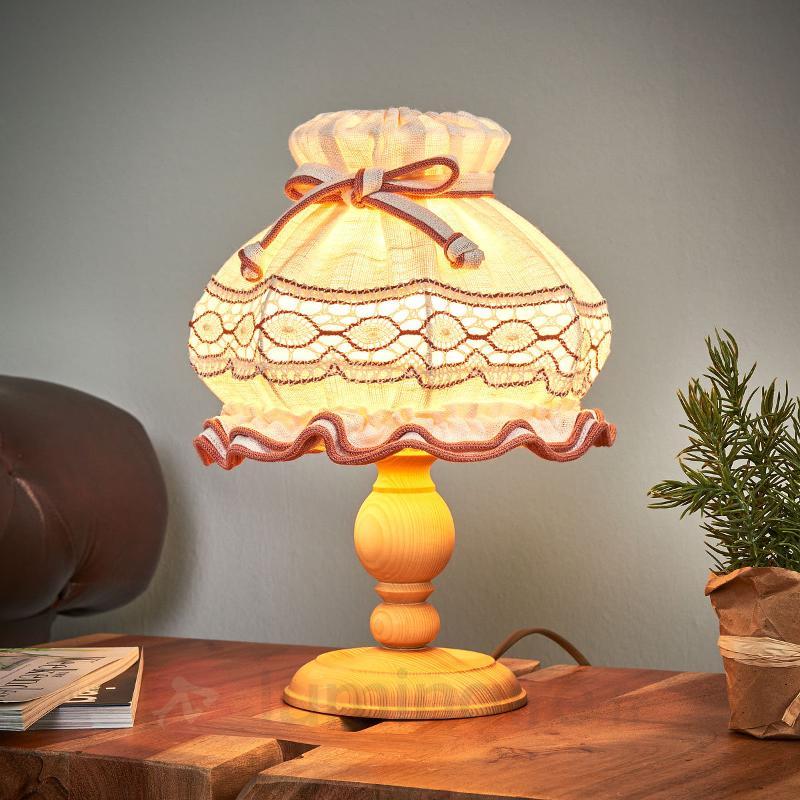 Lampe à poser ELSA style rustique, 32 cm - Lampes de chevet