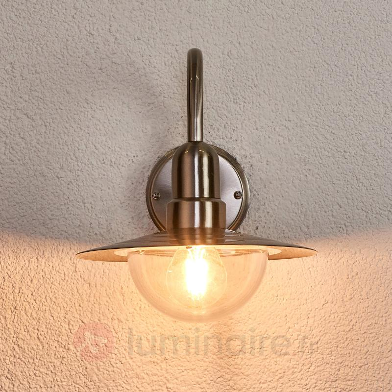 LED Applique d'extérieur classique Fedra en inox - Appliques d'extérieur inox