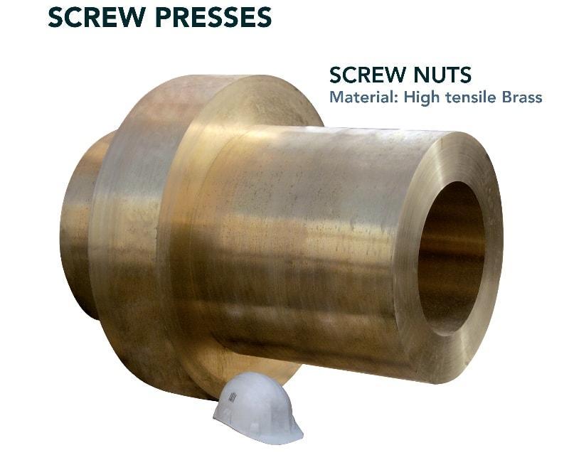 Screw nut - Press industry - screw press