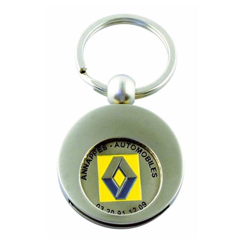 Porte-clés jeton attache rond - Porte-clés métal