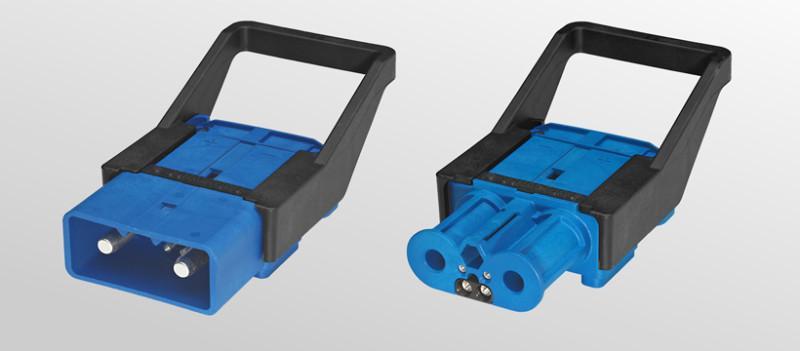 Ladesteckverbinder für Betriebsspannungen bis 500 A - Ladesteckverbinder LV500 -  für Furförderzeuge und Fahrzeugbatterien