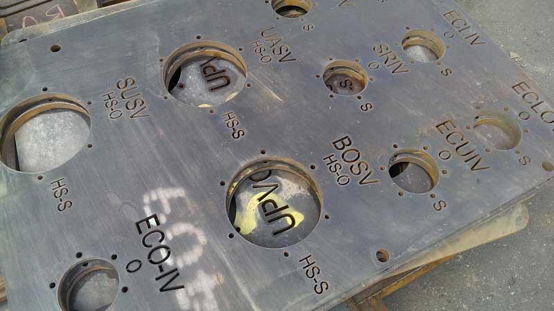 Vattenskärning upp till 4000 x 2000 mm, max tjocklek 200 mm -