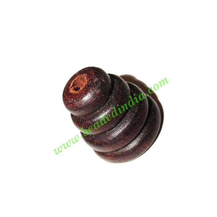 Rosewood Beads, Handcrafted designs, size 14x15mm, weight ap - Rosewood Beads, Handcrafted designs, size 14x15mm, weight approx 2.2 grams