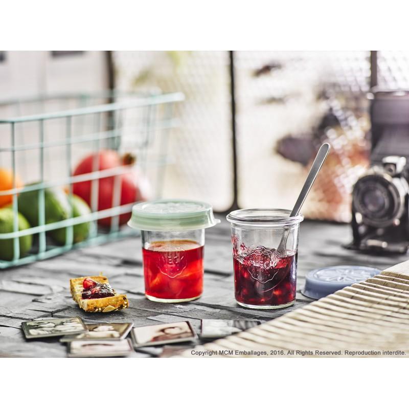 12 vasi di vetro Weck Droits 160 ml  - con coperchi e guarnizioni compresi (clips non compresi)