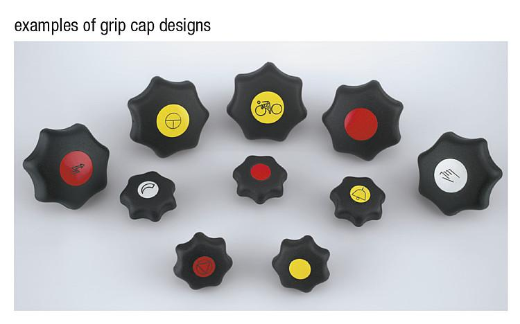 Star Grips steel parts in stainless steel similar to DIN 6336,... - K0154_K Metric