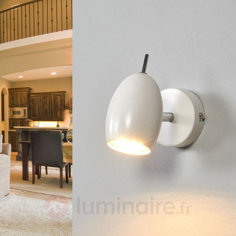 Spot blanc Philippa avec LED GU10 - Spots et projecteurs LED