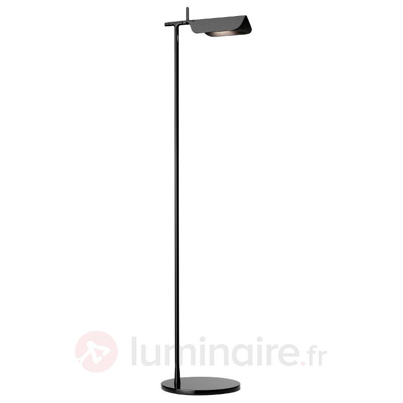 Lampadaire LED TAB F tête orientable noir - Lampadaires LED