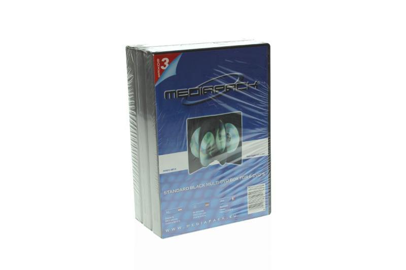 DVD Box 6-fach mit Tray - 21mm - 3er Pack - schwarz - Retailverpackungen & Zubehör