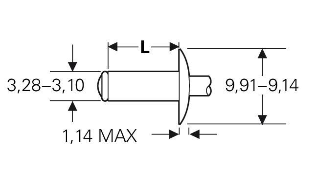 Blind rivet technology - POP® - Standard break stem rivets - Large flange