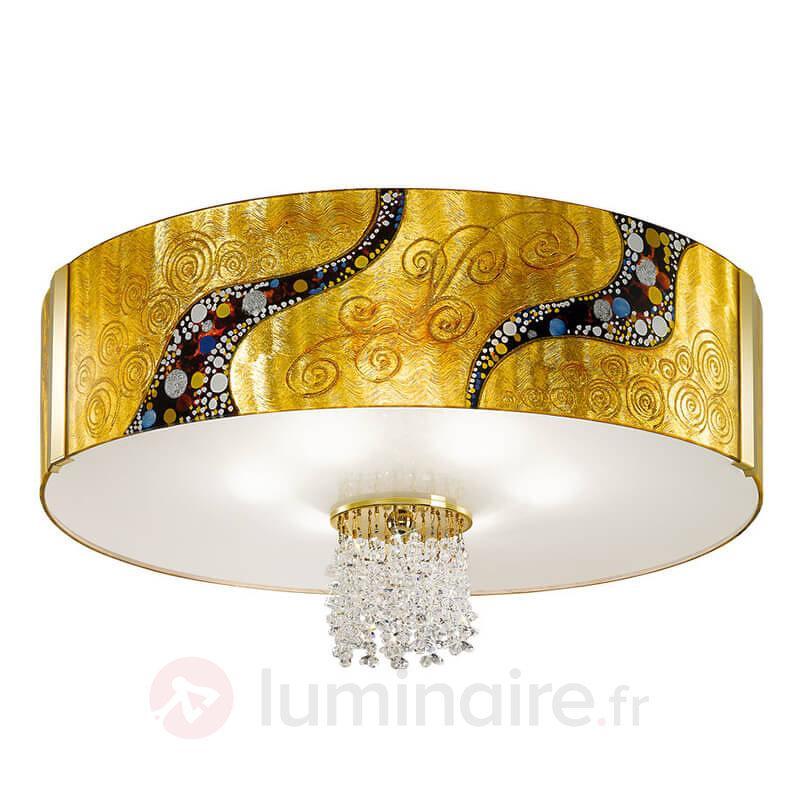 Plafonnier cristal EMOZIONE KISS dorée - Plafonniers design