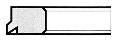 R6 A unghietta sporgente - Produzione di fasce elastiche raschiaolio a Milano