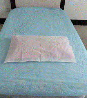Disposable pillow cover - Color: blue, white, green Material: PP nonwoven fabrics SMS