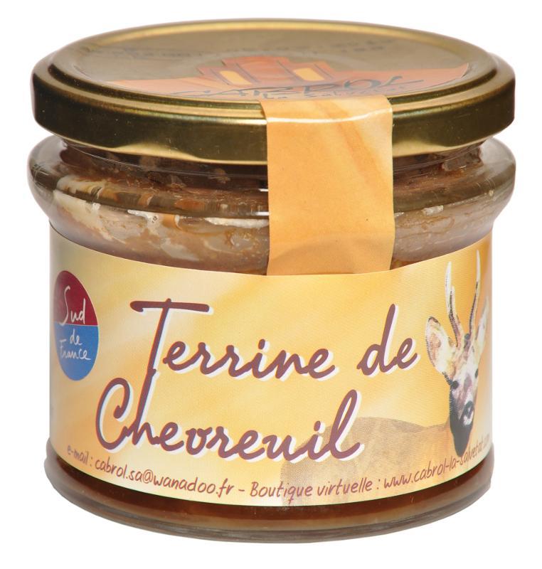 Terrine de Chevreuil (bocal en verre) - Epicerie salée