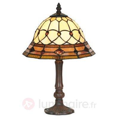 Lampe à poser KASSANDRA 42 cm fabriquée à la main - Lampes à poser style Tiffany