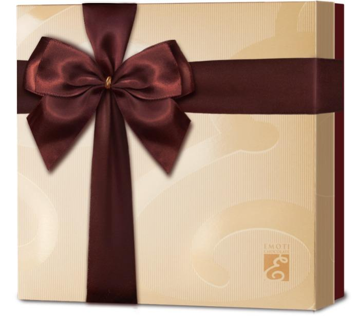 EMOTI Assorted Chocolates, Gift packed 215g. SKU: 013237b -