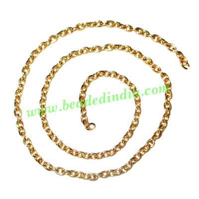 Gold Plated Metal Chain, size: 0.5x3mm, approx 52.6 meters i - Gold Plated Metal Chain, size: 0.5x3mm, approx 52.6 meters in a Kg.