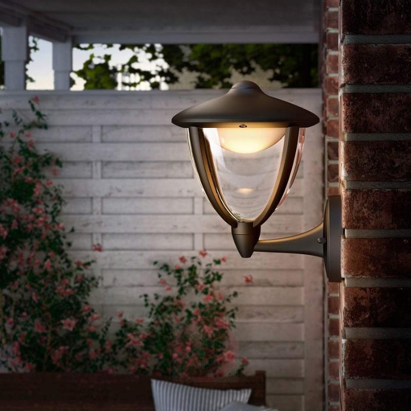 Black Robin LED outdoor wall light - outdoor-led-lights