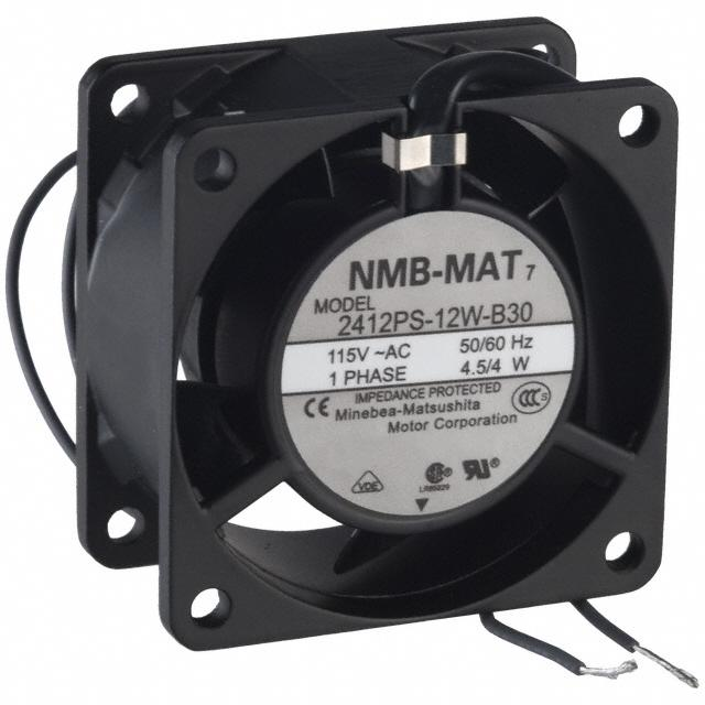 FAN AXIAL 60X30MM 115VAC WIRE - NMB Technologies Corporation 2412PS-12W-B30-A00