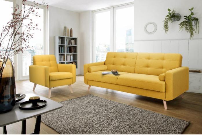 Диван и кресло БЕРГЕН - Образец традиционного скандинавского стиля.