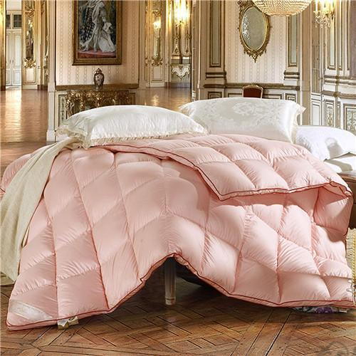 Comfortable feather quilt