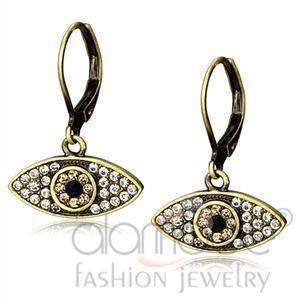 Fashion Earrings - Antique Copper Top Grade Crystal Earrings