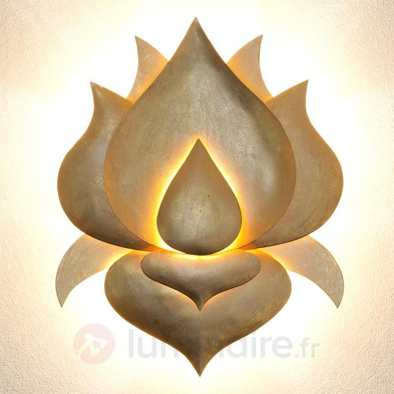 Applique murale dorée Fleur de lotus - Appliques design