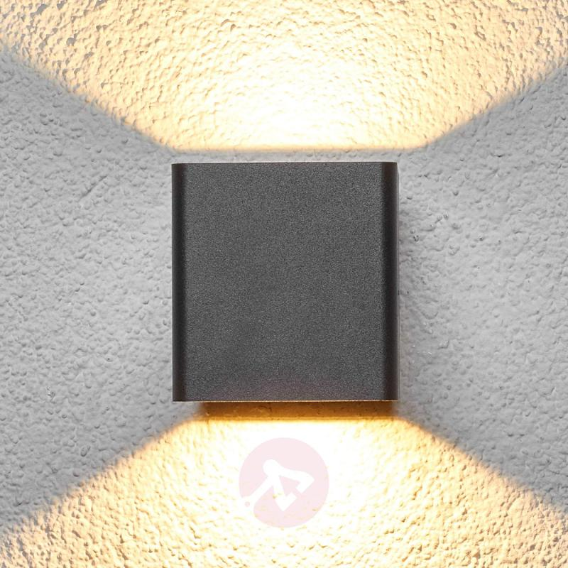 Graphite grey Aaron LED outdoor wall light - outdoor-led-lights