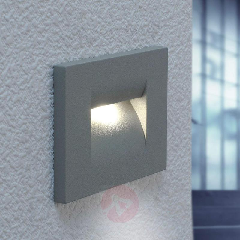 Silver grey Nevin LED wall light