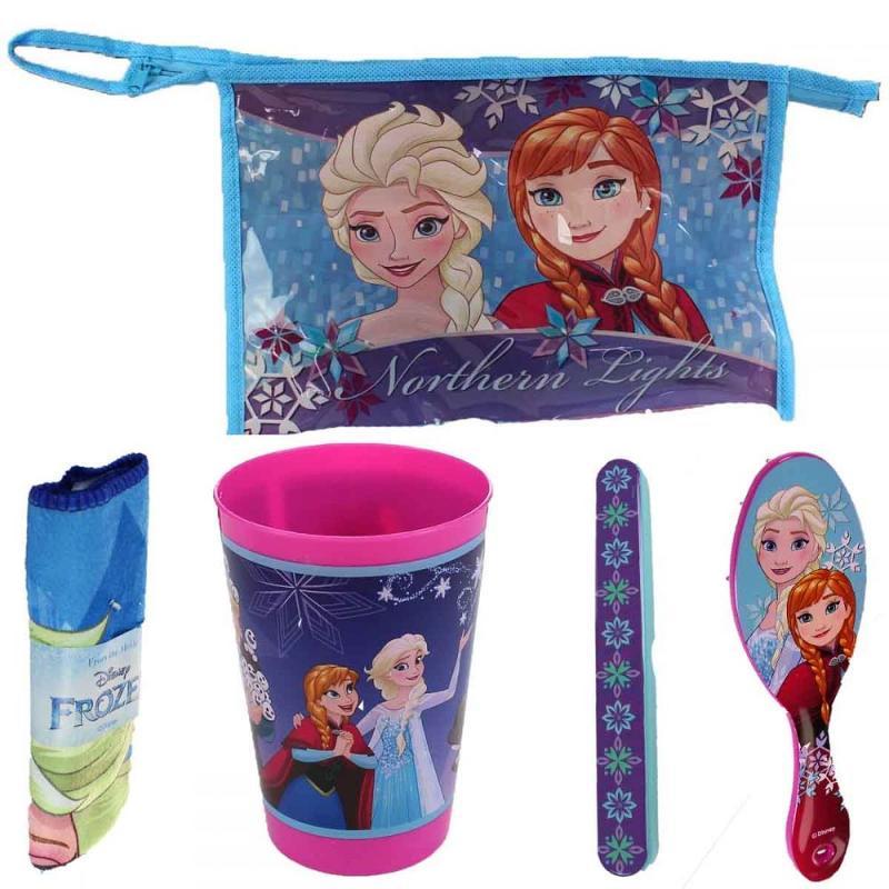 6x Trousses de toilette+ 4 accessoires La reine des neiges - Bijoux et Cosmétique