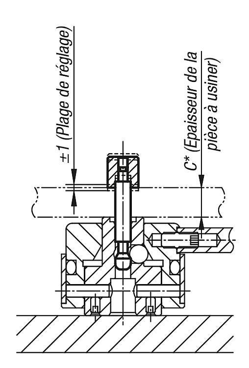 Broche de serrage - Crampons, mors de serrage, vis et écrous de serrage
