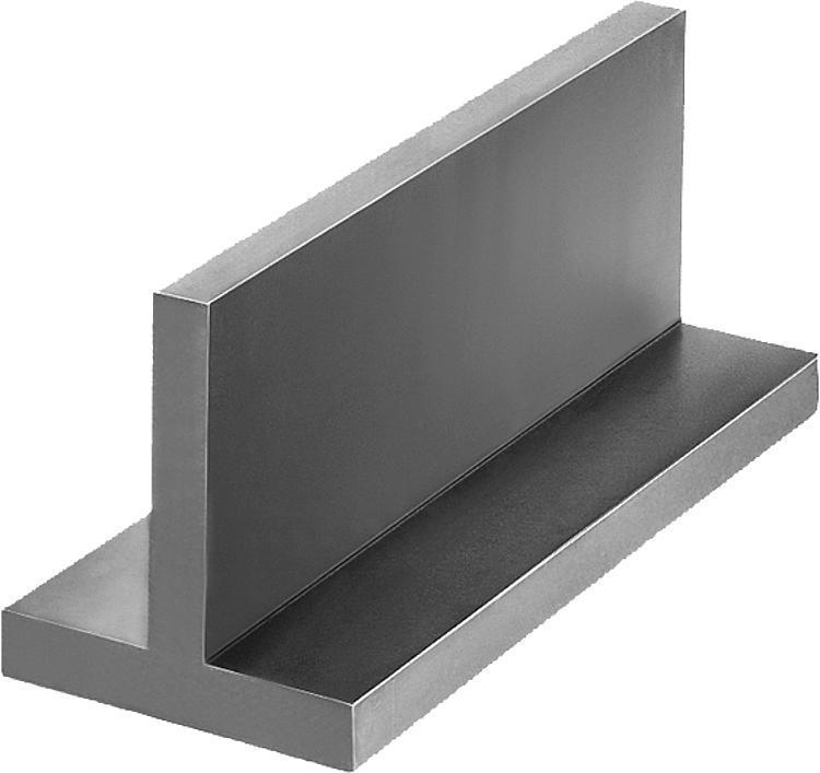 Profil en T Fonte grise et aluminium - Profilés