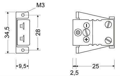 Miniature Connector Panel Bracket - Panel Miniature Insert