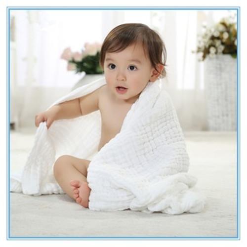 Serviette de bain pour enfants - Gaze écrémé médical 100% coton, après décoloration, séchage haute température. A