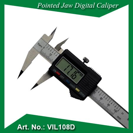 Pointed jaw digital caliper - MEASURING INSTRUMENTS