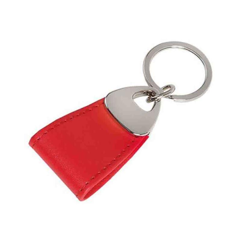 Porte-clés PU/métal marron - Porte-clés métal