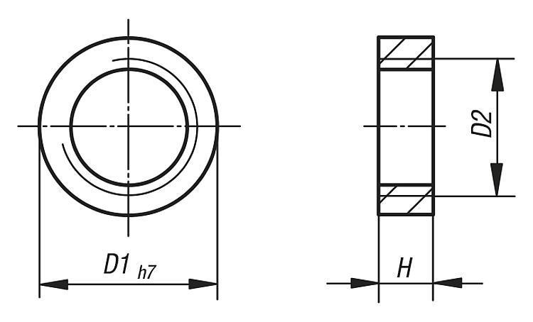 Douille de centrage - Modules linéaires et portiques pneumatiques