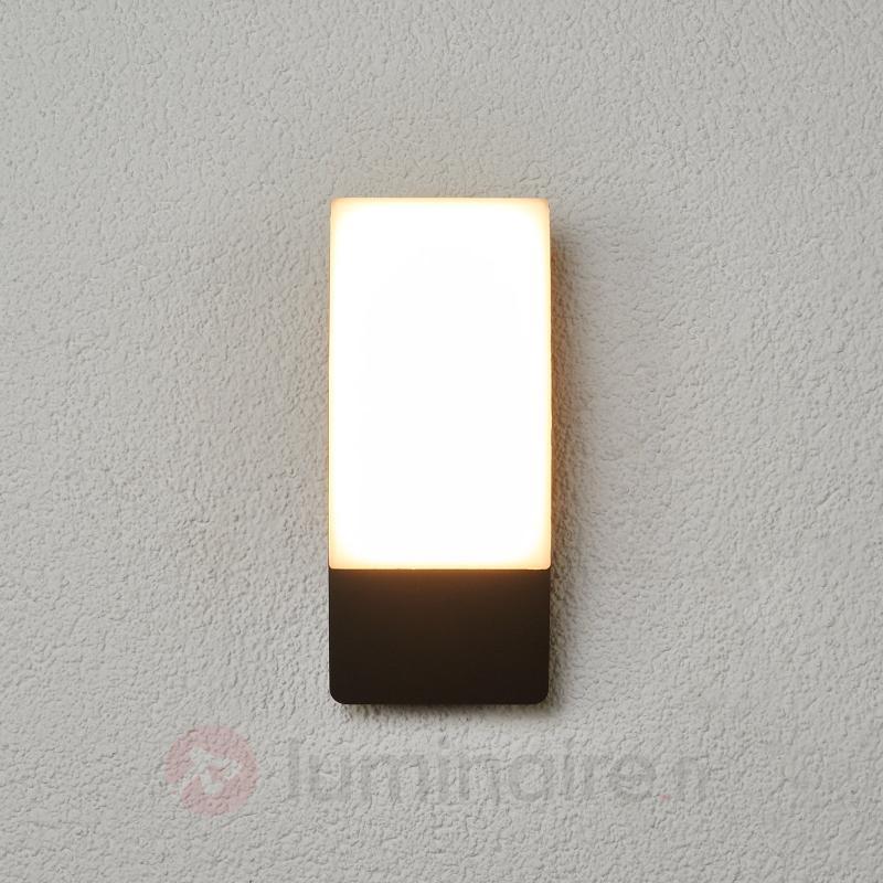Applique d'extérieur LED courbe Siara, gris foncé - Appliques d'extérieur LED