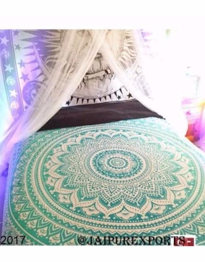 Indian Mandala Tapestry Hippie Bohemian Bedspread Hanging