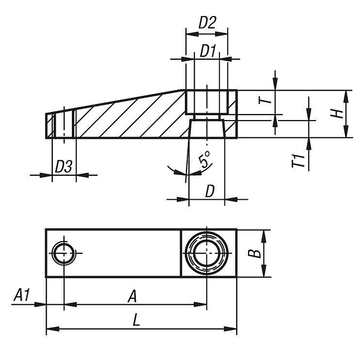 Bras de serrage pour vérin de bridage pivotant - Sauterelles pneumatiques