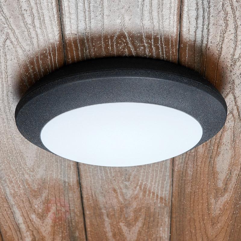 Plafonnier d'extérieur LED Berta, noir, 11W, 3000K - null