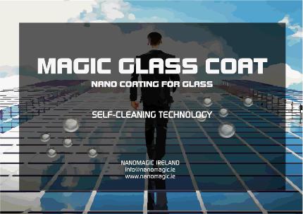 MAGIC GLASS COAT - Self-cleaning nano coating for glass