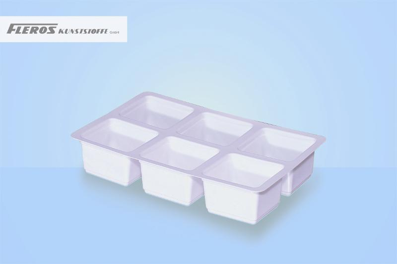 Sealing bowls - SR 60 T* rectangular divided bowl, able to seal