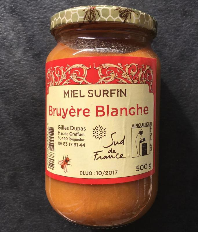 Miel Bruyère Blanche 500 gr. - Épicerie sucrée