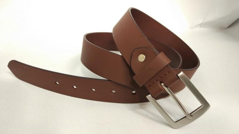 Split smooth belt - Tan split smooth belt for men's