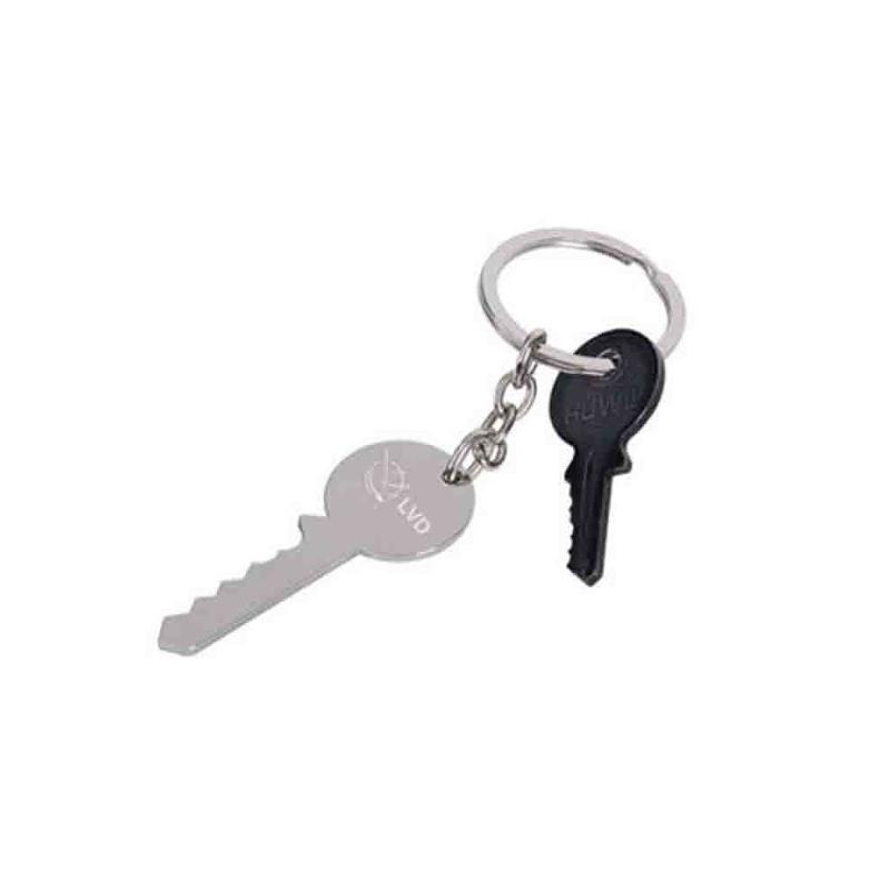 Porte-clés métal brillant - Porte-clés métal
