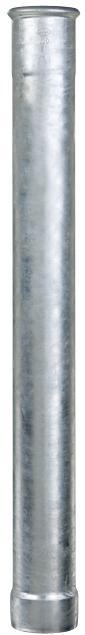 Grömo Standrohr 0,5 m - ohne Reinigungsdeckel - Stahl verzinkt - Regenstandrohre