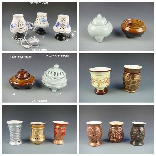 Fragrance lamp Chinese style factory christmas infrared ceramic oil light burner - Ceramic Oil Burner