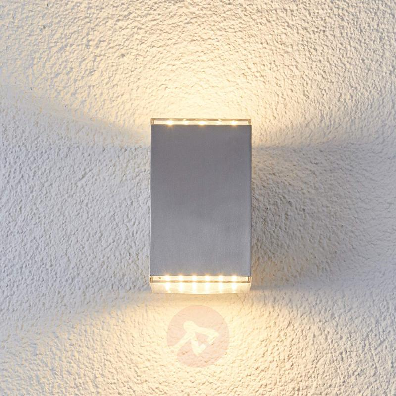 Double sided shining LED wall light Lydia - stainless-steel-outdoor-wall-lights
